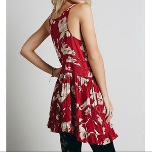Free People Printed Floral Viole Lace Slip Dress